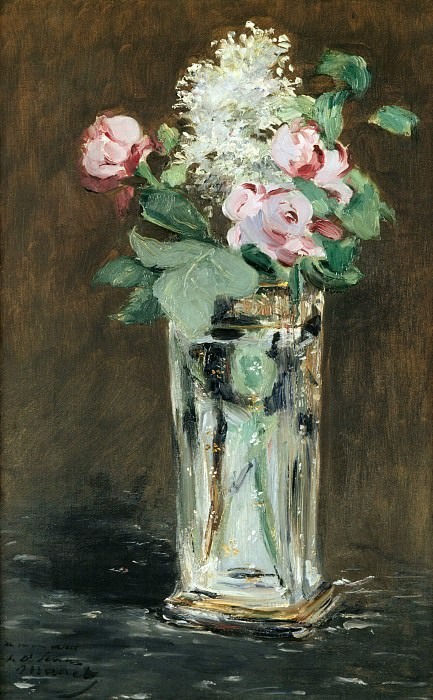Flowers in a crystal vase. Édouard Manet