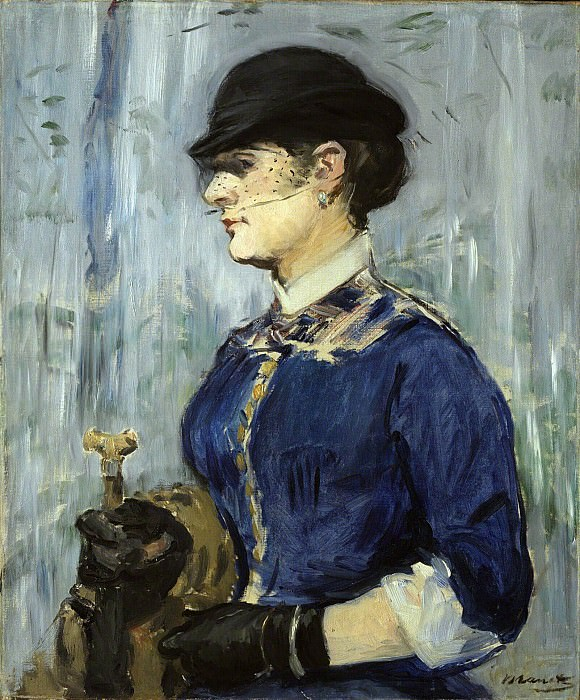 Young Woman in a Round Hat. Édouard Manet