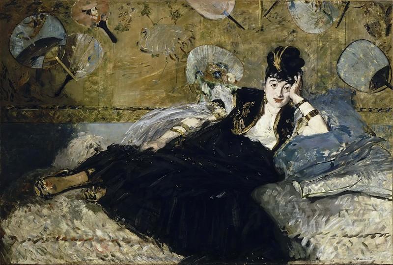 Woman with Fans (Nina de Callias). Édouard Manet