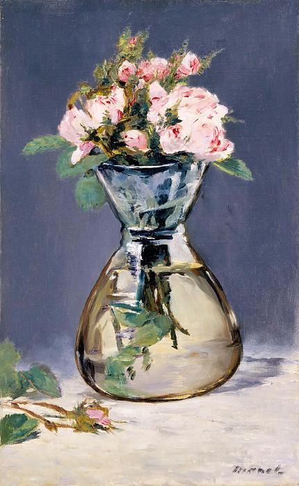 Моховые розы в вазе. Эдуард Мане