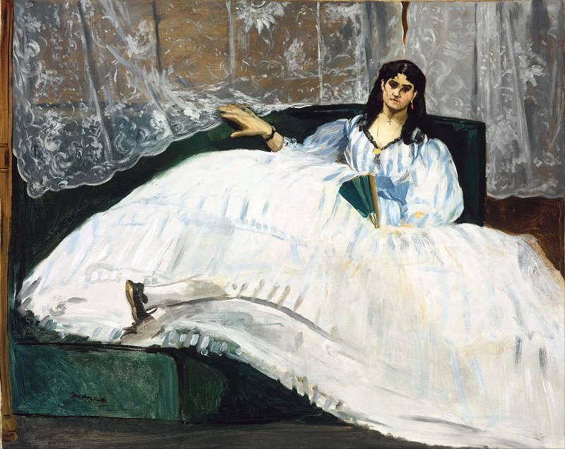 Woman with a Fan. Édouard Manet