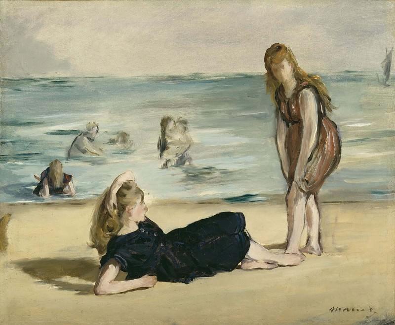 On the Beach. Édouard Manet