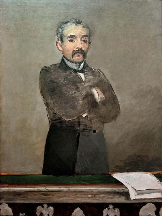 Portrait of Clemenceau. Édouard Manet