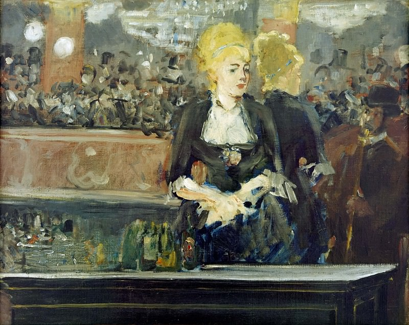 A Bar at the Folies-Bergere (Study). Édouard Manet