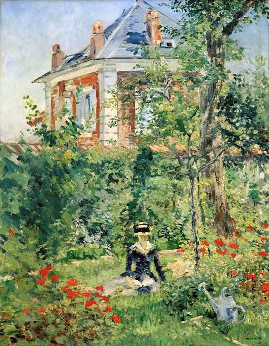 В саду в Бельвю. Эдуард Мане