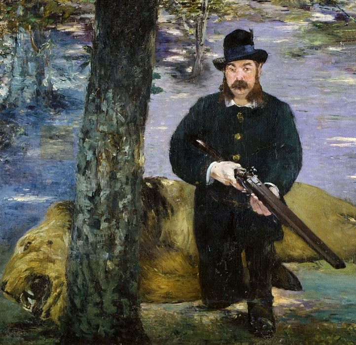 Portrait of the lion-hunter Pertuiset. Édouard Manet
