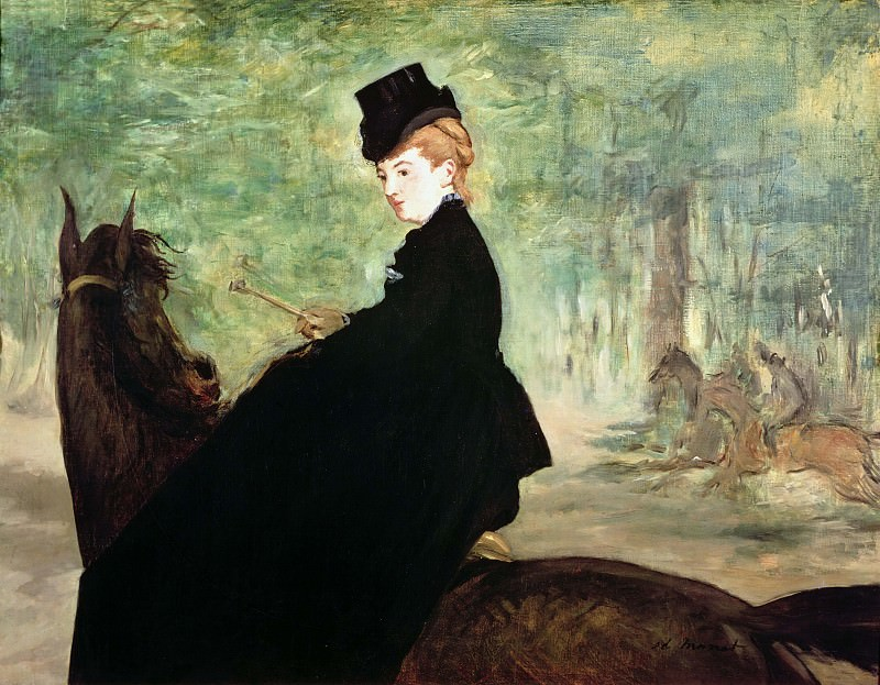 The Horsewoman. Édouard Manet