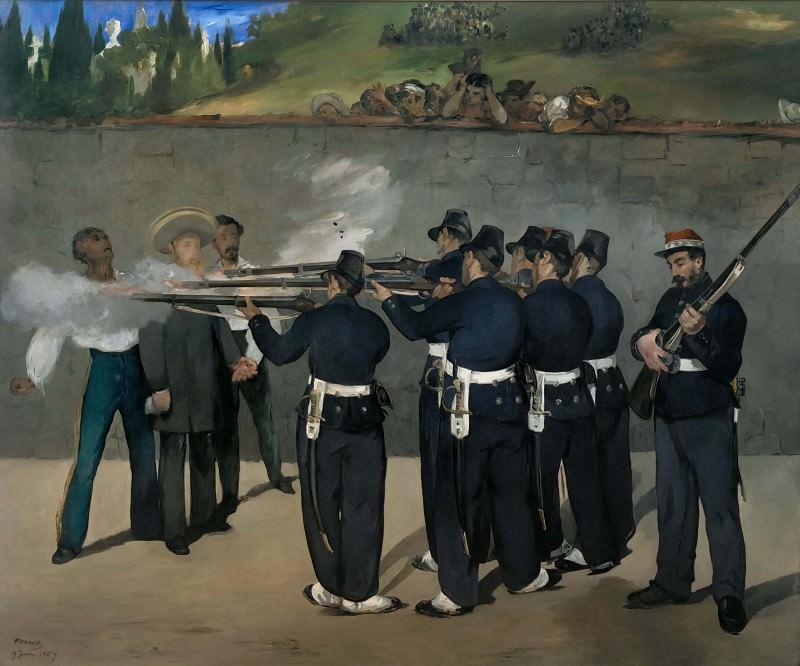 Execution of Emperor Maximilian of Mexico, June 19, 1867. Édouard Manet