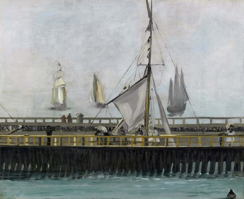 The Pier at Boulogne. Édouard Manet