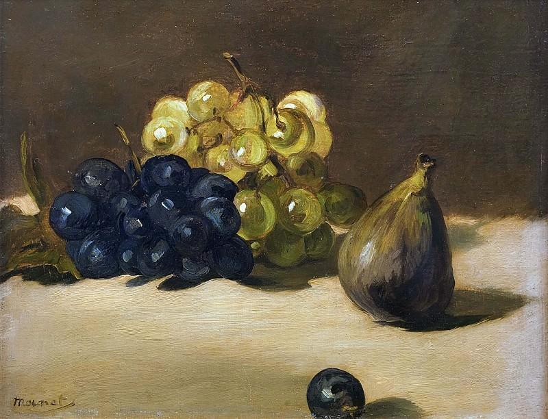 Grapes and fig. Édouard Manet