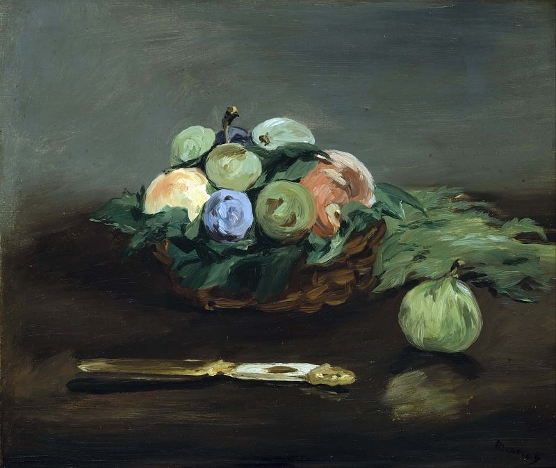 Basket of Fruit. Édouard Manet
