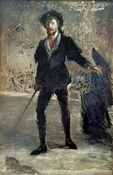Portrait of Faure as Hamlet. Édouard Manet