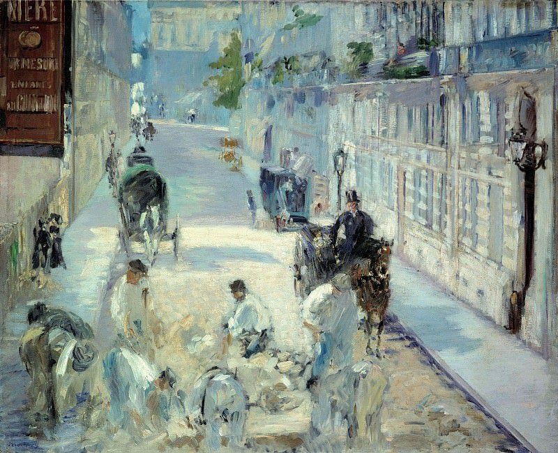 Rue Mosnier with Road Menders. Édouard Manet