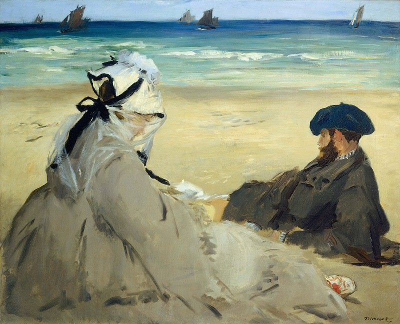 On the Beach. Édouard Manet