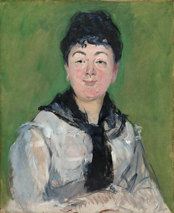 Portrait of a Woman with a Black Fichu. Édouard Manet