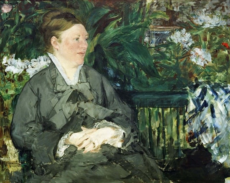 Madame Manet in the Conservatory. Édouard Manet