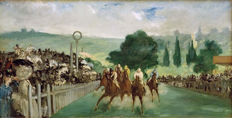 Races at Longchamp. Édouard Manet