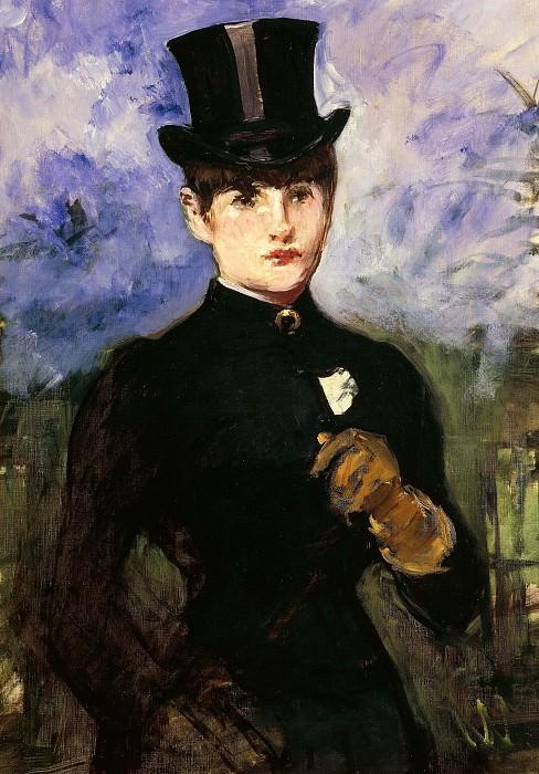 Portrait of horsewoman. Édouard Manet