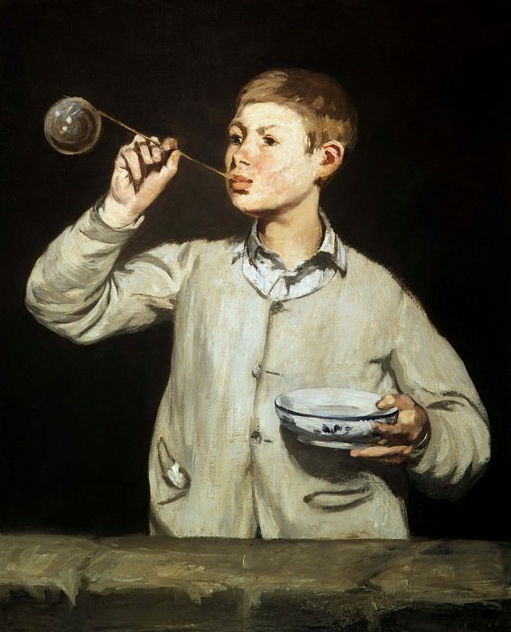 Soap Bubbles. Édouard Manet
