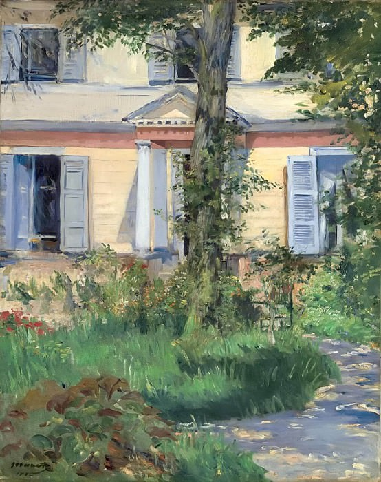The house at Rueil. Édouard Manet