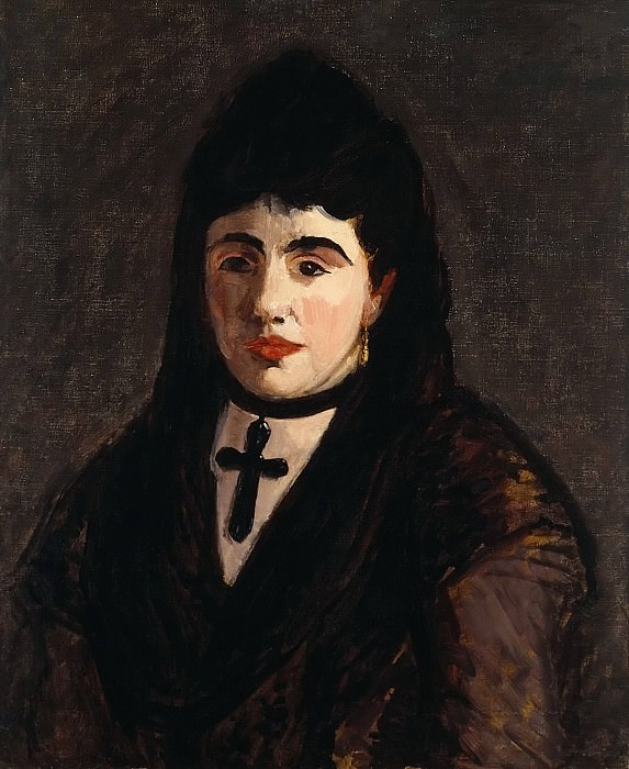 Spanish Woman Wearing a Black Cross. Édouard Manet