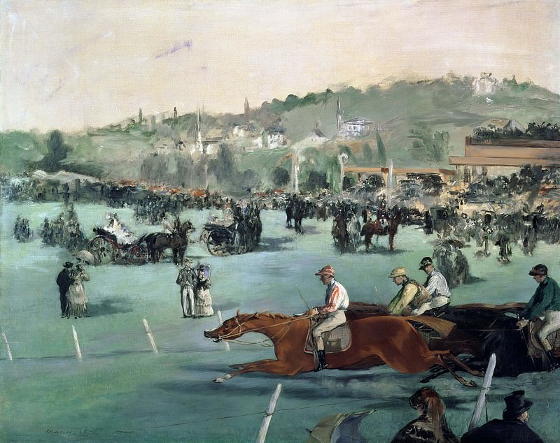 The Races in the Bois de Boulogne. Édouard Manet