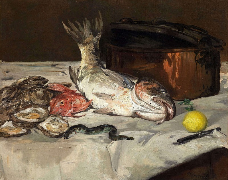 Still Life with Fish. Édouard Manet