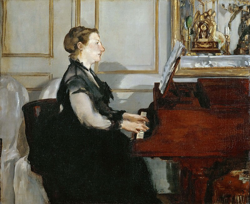 Madame Manet at the piano. Édouard Manet