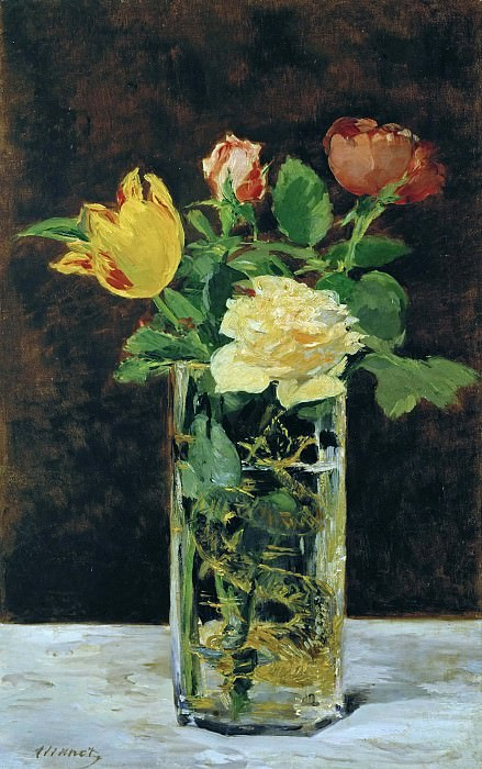 Roses and Tulips. Édouard Manet