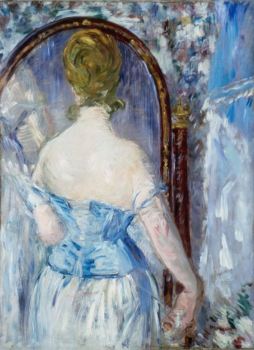 Before the Mirror. Édouard Manet