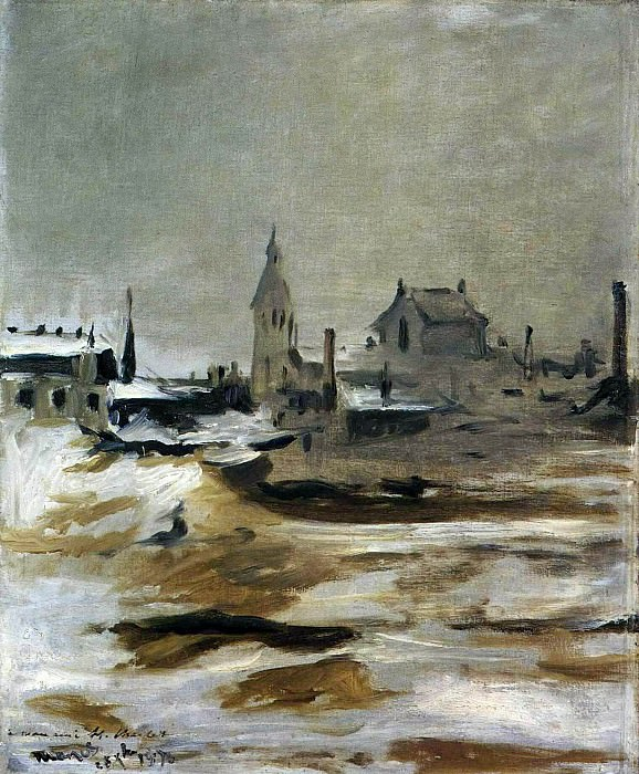 Effect of Snow on Petit-Montrouge. Édouard Manet