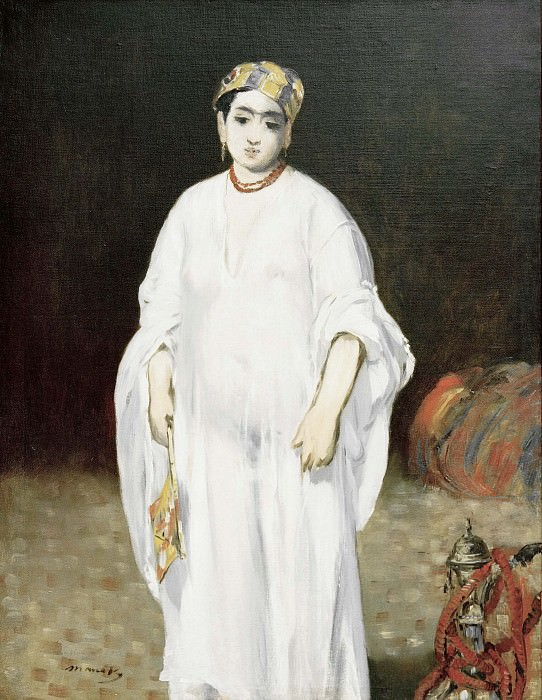 Young woman wearing oriental dress (Sultana). Édouard Manet