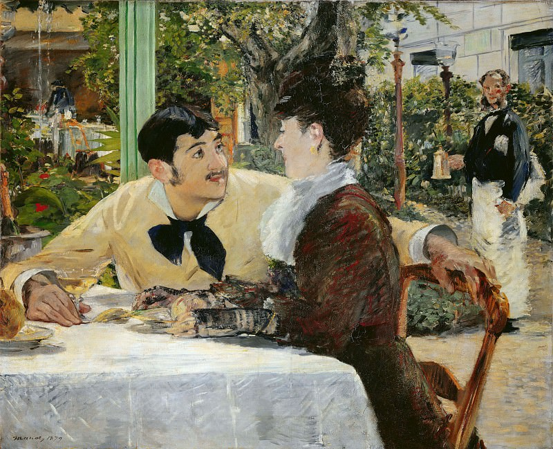 At Pere Lathuille's. Édouard Manet