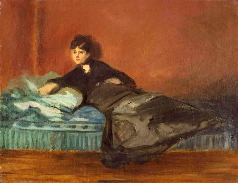 Berthe Morisot On A Divan. Édouard Manet
