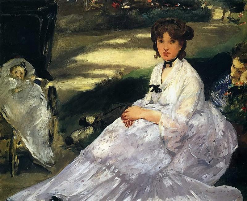 In the Garden. Édouard Manet
