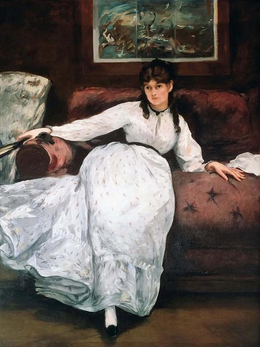 The rest or Portrait of Berthe Morisot. Édouard Manet