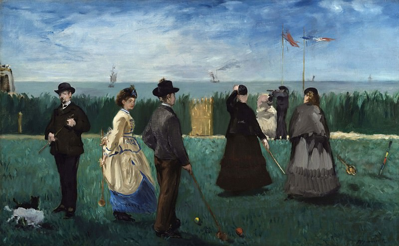 Croquet at Boulogne. Édouard Manet