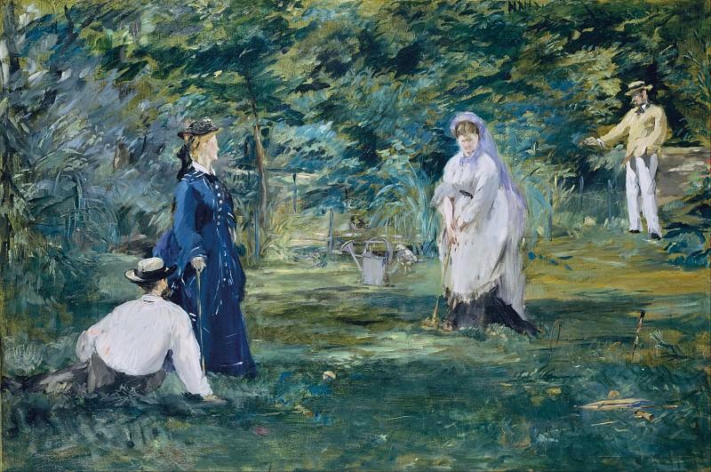 A Game of Croquet. Édouard Manet