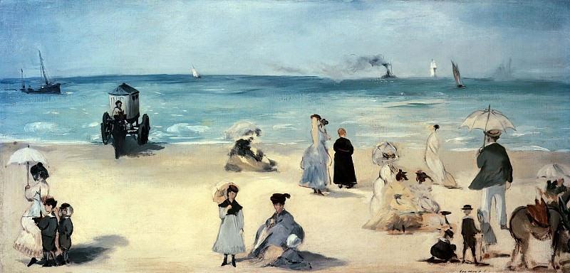 Beach at Boulogne. Édouard Manet