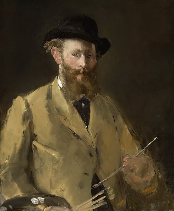 Self Portrait with Palette. Édouard Manet