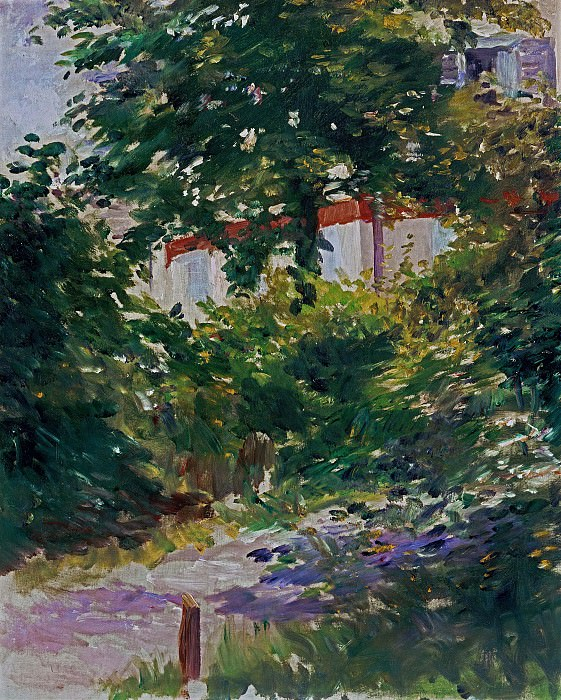 A Path in the Garden at Rueil. Édouard Manet