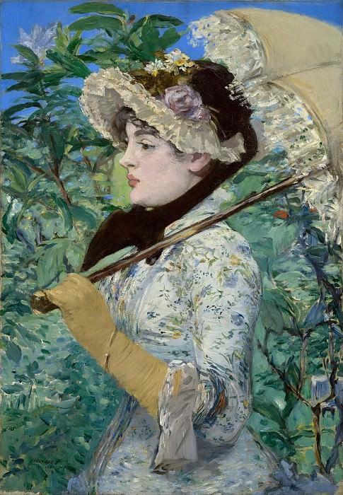 Spring (Jeanne Demarsy). Édouard Manet