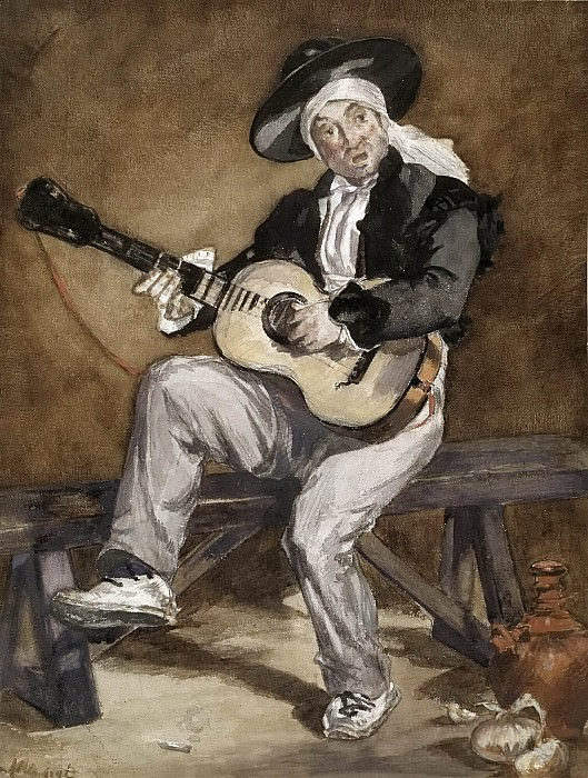 The Spanish Singer. Édouard Manet