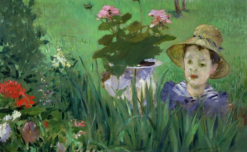 Boy in Flowers (Jacques Hoschede). Édouard Manet