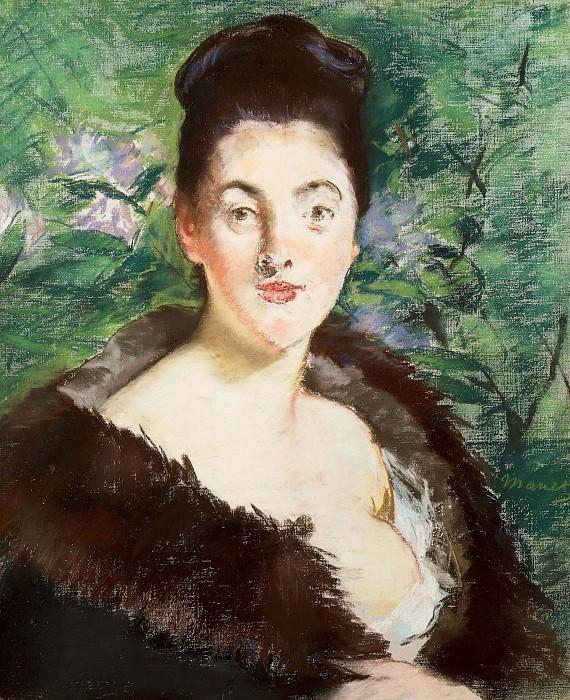 Woman in a fur coat. Édouard Manet