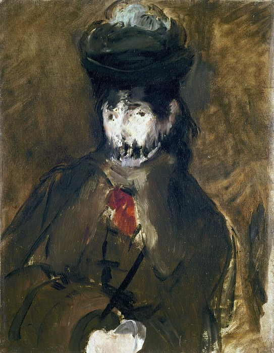 Veiled Young Woman. Édouard Manet