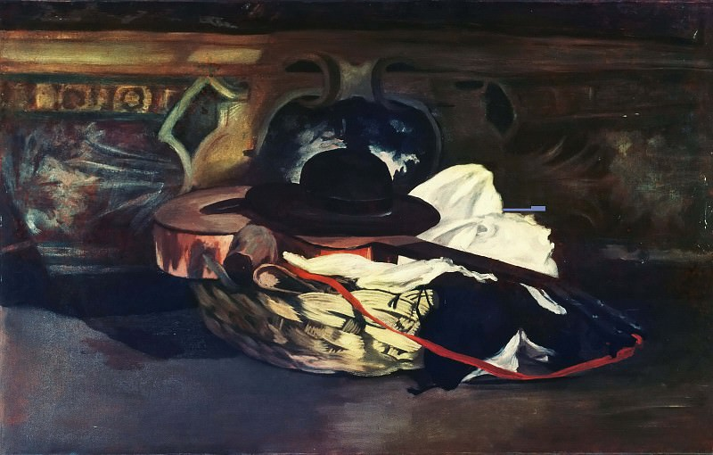 Hat and Guitar. Édouard Manet