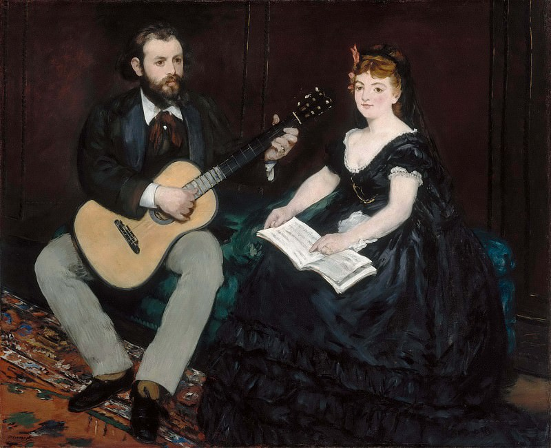 Music Lesson. Édouard Manet
