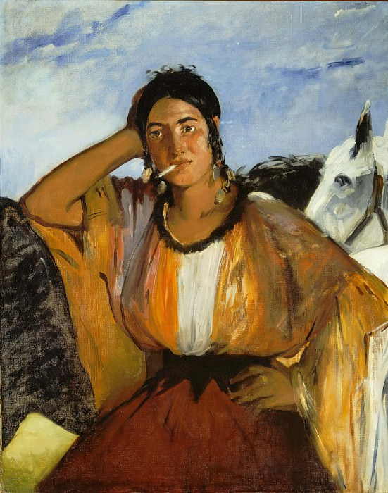 Gypsy with Cigarette. Édouard Manet