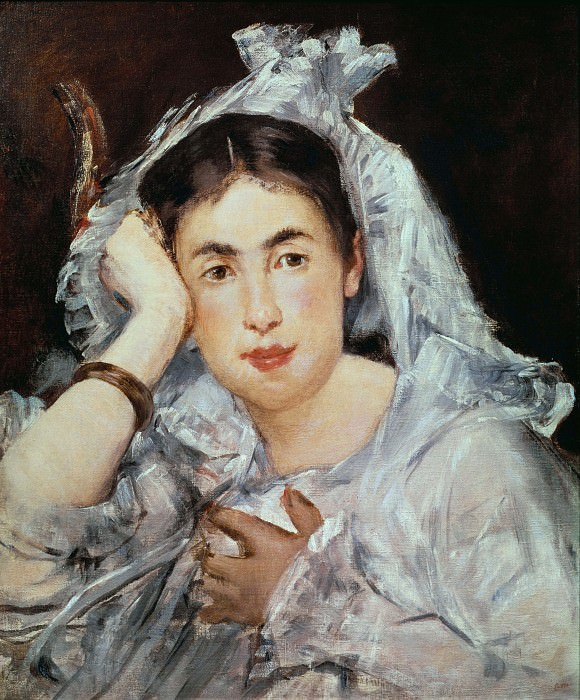 Marguerite de Conflans with Hood. Édouard Manet